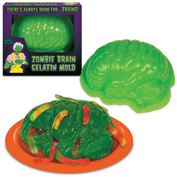 Zombie Brain Mold Halloween Gelatin Jello Walking Dead