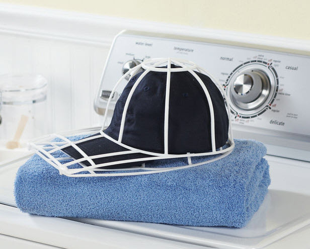 can you wash baseball caps in the washing machine