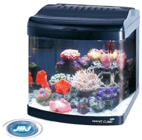 Jbj nano cube 24 gallon all led deluxe aquarium fish tank for Aquarium nano cube
