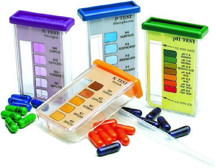 Soil test kit tester ph test light npk levels rapitest for Soil test kit