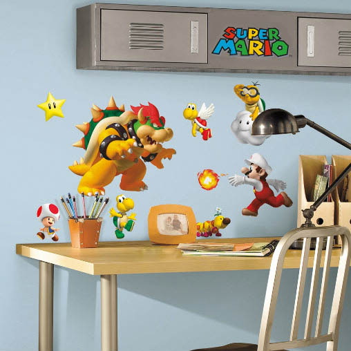 Super Mario Dry Bones Bowser LARGE VINYL WALL STICKER DECALS CHILDREN Room 155m