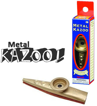 Metal Kazoo Classic Musical Toy Instrument Ages 5 Oral
