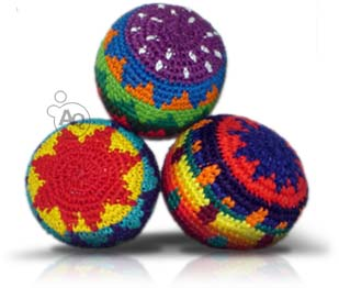 Loose Ball Sack http://www.ebay.com/itm/Guatemalan-Hackey-Sack-Foot-Bag-Tribal-Hacky-Ball-Guate-Kick-Bags-Multi-Colored-/380534177949